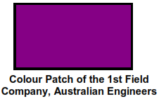 Colour Patch of the 1st Field Company, Australian Engineers
