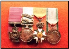 Medals awarded to Henry Jones