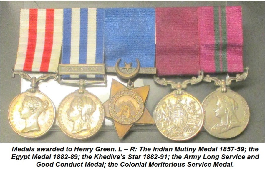 Henry Green's Medals